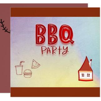 Carte Partie de BBQ
