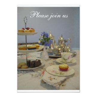 Carte Partie de dames de thé d'après-midi