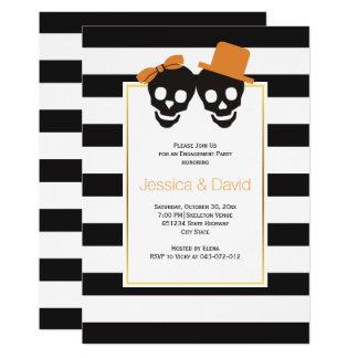 Carte Partie de fiançailles de mariage de Halloween de