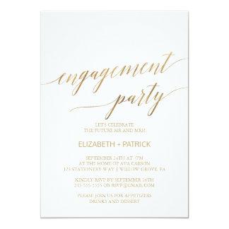 Carte Partie de fiançailles élégante de calligraphie