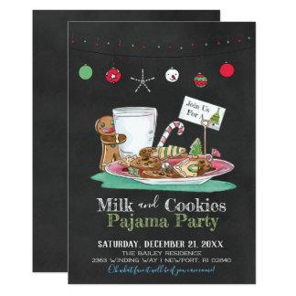 Carte Partie de lait et de pyjama de biscuits