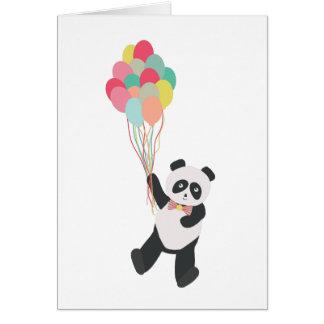 Carte Partie de panda - panda d'anniversaire avec des