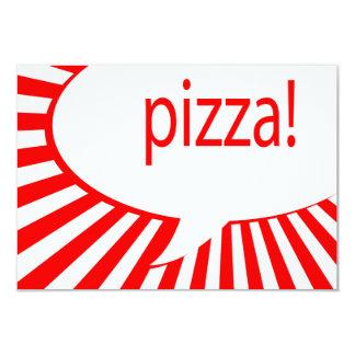 Carte partie de pizza