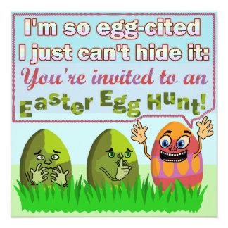 Carte Partie drôle V2 de chasse à oeuf d'Eggcited pâques