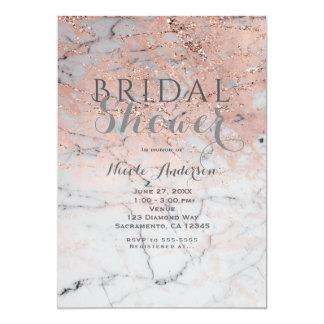 Carte Partie fascinante moderne d'or de marbre rose à la