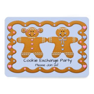 Carte Partie Invite~Gingerbread d'échange de biscuit