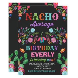 Carte Partie moyenne de ęr d'anniversaire de fiesta