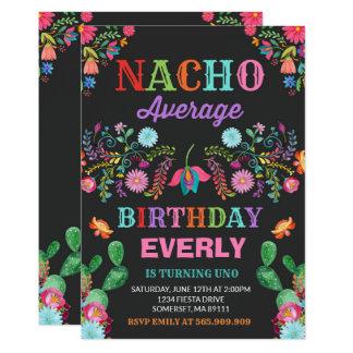 Carte Partie moyenne de Nacho d'invitation