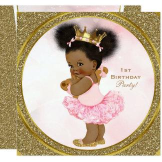 Carte Partie rose de bébé de princesse Vintage de