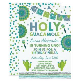 Carte Partie sainte de guacamole d'invitation