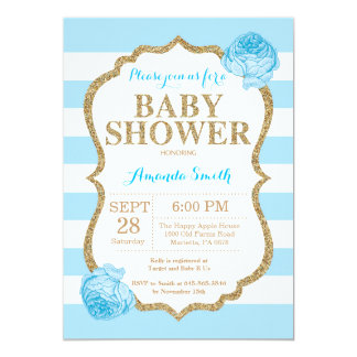Carte Parties scintillantes d'invitation de baby shower