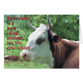 Carte Pas Cowheaded-personnaliser Bullheaded