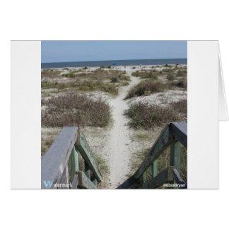 Carte passage couvert à la plage
