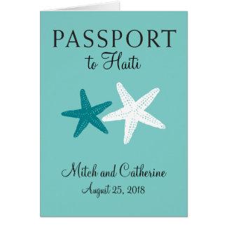 Carte Passeport de mariage d'étoiles de mer du Haïti