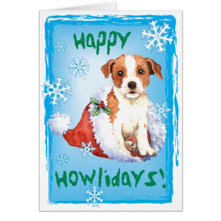 Carte Pasteur heureux Russell Terrier de Howliday