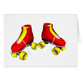 Carte Patins de rouleau rouges