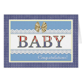 Carte patriotique de félicitations de bébé