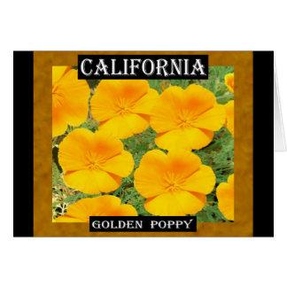 Carte Pavot d'or de la Californie