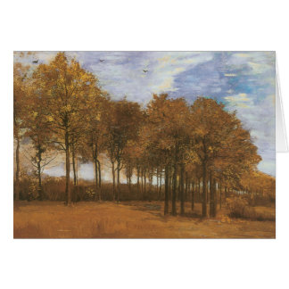 Carte Paysage d'automne par Vincent van Gogh
