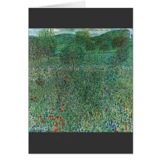 Carte Paysage de jardin par Gustav Klimt