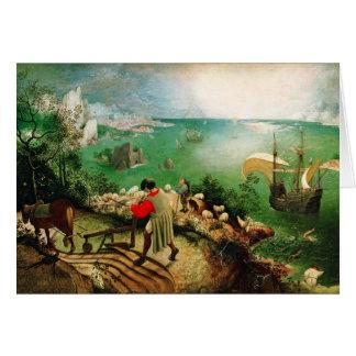 Carte Paysage de Pieter Bruegel avec l'automne d'Icare