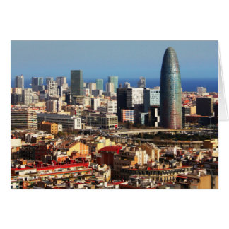 Carte Paysage urbain de Barcelone