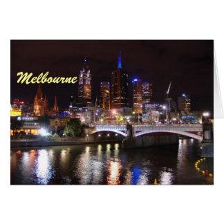 Carte Paysage urbain d'horizon de Melbourne Victoria