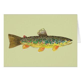 Carte Pêche de truite de Brown