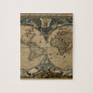 carte peinte par original du monde de 1600s puzzle