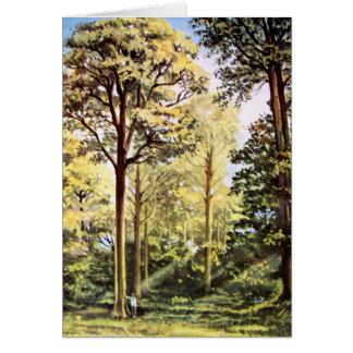 Carte Peinture acrylique de forêt de Vierge