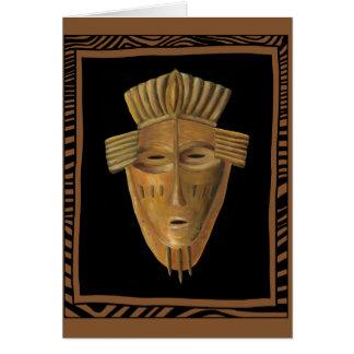 Carte Peinture africaine de masque par Chariklia Zarris