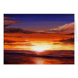 Carte Peinture Coucher du soleil-Acrylique sur la toile