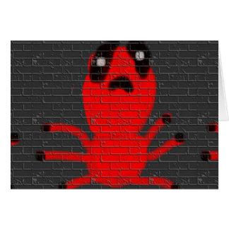 Carte Peinture de mur d'araignée rouge, art par des
