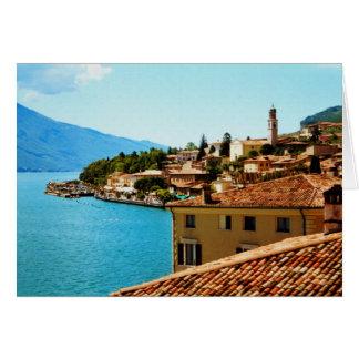Carte Peinture de photo de l'Italie de policier de lac