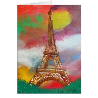 Carte Peinture de Tour Eiffel