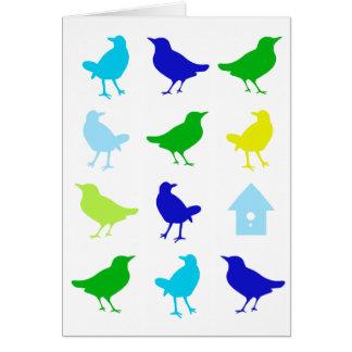 Carte Peinture des oiseaux colorés par Chariklia Zarris