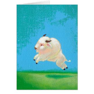 Carte Peinture heureuse de bison de saut de buffle
