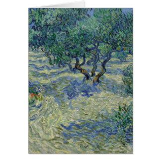 Carte Peinture olive de beaux-arts de verger de Vincent
