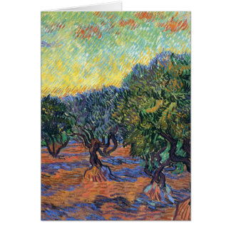 Carte Peinture olive de Van Gogh