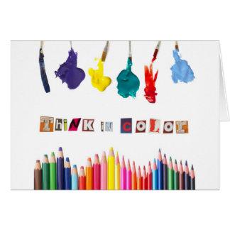 Carte pensez en couleurs