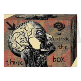 Carte pensez en dehors de la boîte