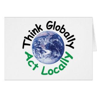 Carte Pensez globalement l'acte localement