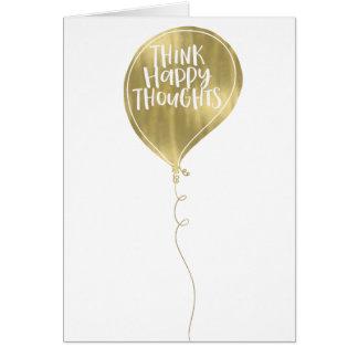 Carte Pensez le ballon heureux d'or