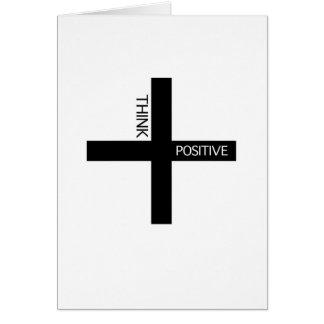 Carte Pensez le positif