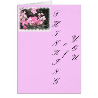Carte Pensez le rose