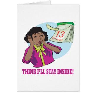 Carte Pensez le séjour malade à l'intérieur