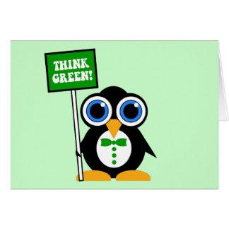Carte pensez le vert