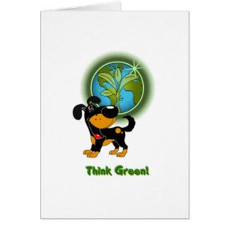 Carte Pensez le vert ! - Bubba