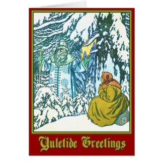 Carte Père Frost - salutations de Noël