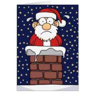 Carte Père Noël coincé